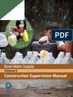 World Bank Rural Water Supply Manual Vol2 Construction Supervision Manual 2012