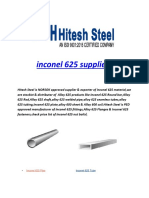 Inconel 625 Suppliers