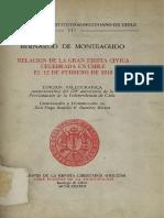 Monteagudo - Relación de La Gran Fiesta Cívica Celebrada El 12 de Febrero de 1818