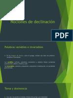 Nociones de Declinación