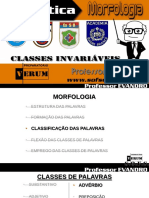 Morfologia Classes Invariáveis