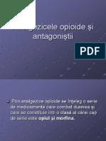 Analgezicele Opioide Şi Antagoniştii