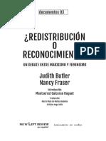 Fraser, Nancy - Redistribución o Reconocimiento