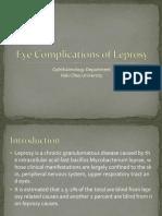 Eye Complications of Leprosy