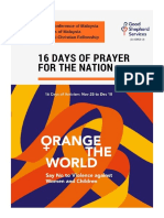 CFM_Orange the World_16 Days of Prayer for the Nation