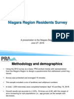 Niagara Region Survey.