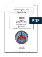Fire Investigation - Auto Repairs