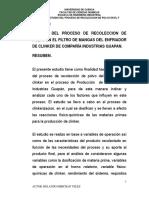 Tn172-Estudio de La Recoleccion de Plovo de Horno CLINKEr