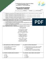 EVALUACION SINTESIS DE LENGUAJE 4°2018