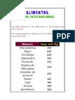 ALIMENTOS CON ALTO GRADO - RICOS EN KILOCALORIAS