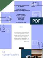 La Comunicación.factor Para El Éxito Del Proyecto