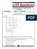 X-ICSE Board Official Maths Solutions [27.2.2018]