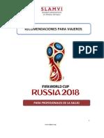 SLAMVI Copa Mundial Rusia 2018 Consejos Para Viajeros. Versión Profesionales