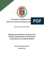 Navarrete, M -2011- Modelos Geoestadisticos Del Precio de La Vivienda