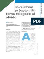 02. Investigación. El proceso de reforma policial en Ecuador... Daniel Pontón