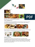 Historia de La Gastronomía de Mexico