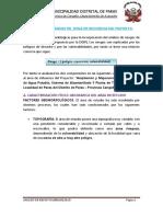 Análisis de Riesgo en Zona de Influencia Del Proyecto