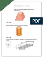 Leccion de Geometria Plana y en Espacio