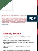 TF Logika Trecia Paskaita