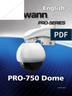 Camera Swann PRO-750 dome manual pro-series