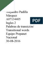 Alejandro Padilla Transitional Words