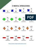Cálculo Mental Operaciones Básicas Parte4