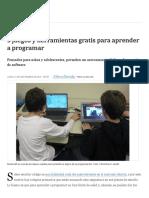 La Nacion - 9 Juegos y Herramientas Gratis Para Aprender a Programar - 11.09.2017