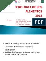 Tecnología de Los Alimentosu1y2-2012