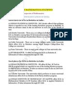 Prospectus Of Statistics