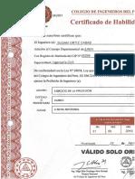 Certificado de Habilidades