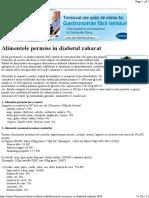 Alimentele Permise in Diabetul Zaharat