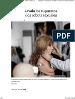 La Nacion - La Ciencia No Avala Los Supuestos Beneficios de Los Robots Sexuales