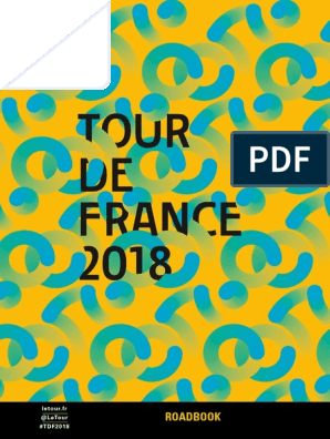 2018 Tour De France Roadbook Cycle Racing Cycle Sport
