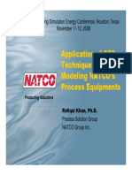 Application of CFD Technique for Modeling NATCO Process Eqpts