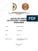 Golpe Ariete-cavitacion-bomba Engrane