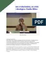 Pensamiento evolucionista, en crisis teórica e ideológica