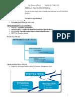 Definición de Política Fiscal. Docente Fco.270114
