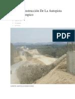 Avanza Construcción de La Autopista Tuxpan