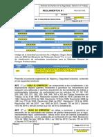REG-SST-002 Reglamento de Higiene y Seguridad Industrial