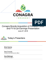 CAg ConAgra PF Pinnacle acquisition Jun 27 2018