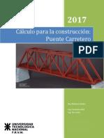 Calculo para la construccion de puente carretero