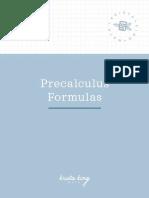Precalculus.formulas