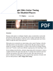 Simple Slide-Guitar Tuning for Disabled Players