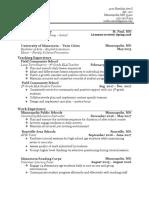millin resume