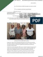 O STF e Os Direitos Territoriais Quilombolas