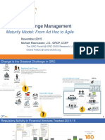The Agile Organisation GRC in Context of Regulatory Change Michael Rasmussen GRC 20-20