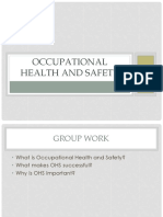 Lecture 1 Occupational Health and Safety