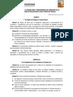 Reglamento de La Contraloria y Transparencia Del Municipio de La Heroica Ciudad de Huajuapan de León
