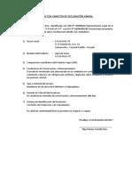 Datos Con Carácter de Declaración Jurada Agua de Mesa