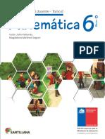 Matemática 6º Básico - Guía Didáctica Del Docente Tomo 2
